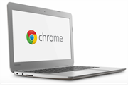 Laptop with Google Chrome logo