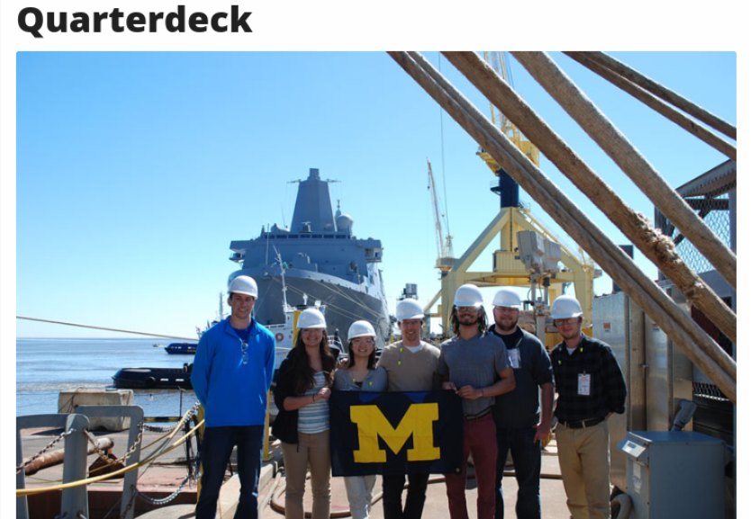 Quarterdeck Honorary Society at the University of Michigan